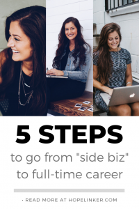 How To Take Your Side Business To Full-Time
