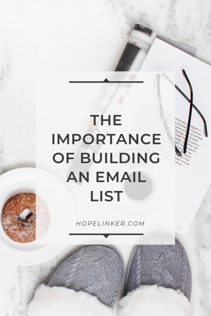 Why you should focus on building an email list!