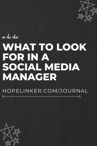What to look for in a social media manager